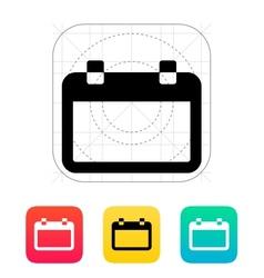 Blank calendar icon vector image vector image