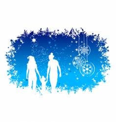 Christmas holiday happy family vector image