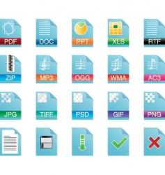 computer document icon vector image