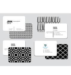 Modern simple business card template illus vector image vector image
