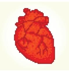 Pixel art heart isolated vector image