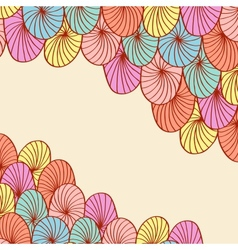Abstract hand drawn round elements background vector image