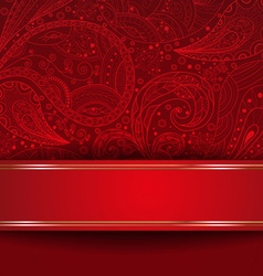 Abstract Ornate Red Backdrop vector