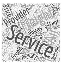 Air canada freight Word Cloud Concept vector