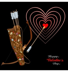 Arrows and heart vector image