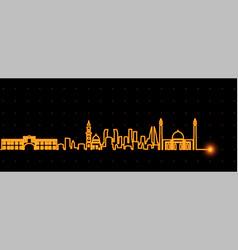 bahrain light streak skyline vector image