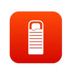 binocular icon digital red vector image