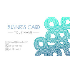 business card design templated trendy design vector image