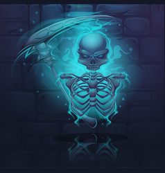 Cartoon skeleton vector
