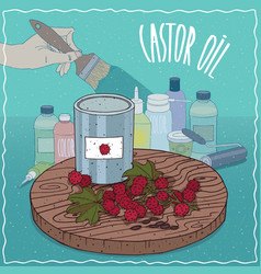 Castor oil used for paint manufacture vector