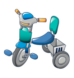 child tricycle icon cartoon style vector image