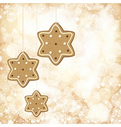 Christmas background with golden lights and vector