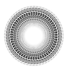 Circle tire tracks white background vector