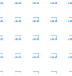 Classroom icon pattern seamless white background vector