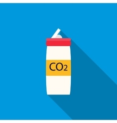 CO2 bottle for paintball icon flat style vector