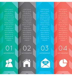 Colorful labels with sequence of steps vector