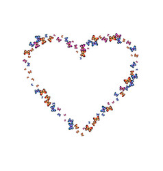 Contrast decorative butterfly heart vector
