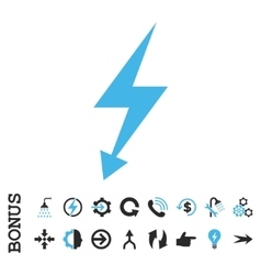 Electric Strike Flat Icon With Bonus vector image