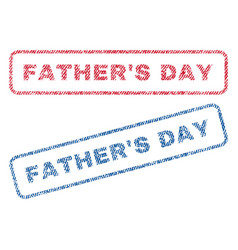 father s day textile stamps vector image