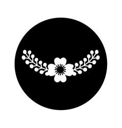 floral wreath decoration card vector image