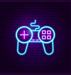 Game play neon sign vector