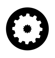 Gear machine setup icon vector