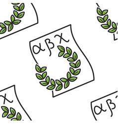 greek alphabet and laurel wreath seamless pattern vector image