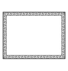 Greek style black ornamental decorative frame vector image