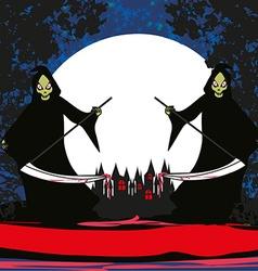 Grim reaper card vector image