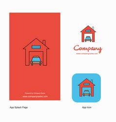 house garage company logo app icon and splash vector image