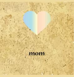 Icon heart mom vector