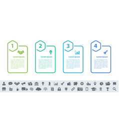 infographic design business concept with 4 steps vector image