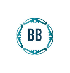 initial letter elegance bb logo design template vector image