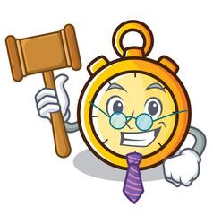 Judge chronometer character cartoon style vector