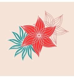 lace flowers decoration element vector image