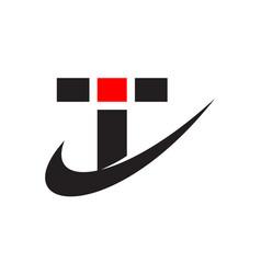 logo letter t i vector image