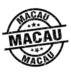 Macau black round grunge stamp vector