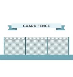 Metallic fence isolated on background vector image