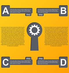 Modern infographic Design elements vector image