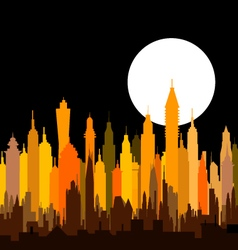 Morden Night City Skyline vector