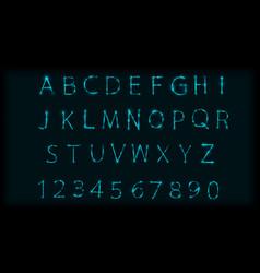 Neon abc letters symbol typeset design roman vector