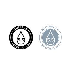 neutral ph balance logo icon for shampoo or cream vector image