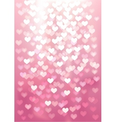 Pink festive lights in heart shape background vector image