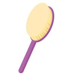 Purple brush for hair on white background vector