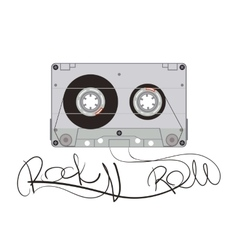 Rock Music Cassette vector image
