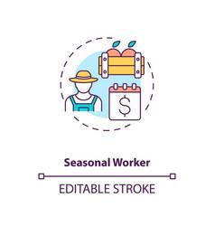 Seasonal worker concept icon vector
