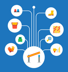Set of industry icons flat style symbols with vector