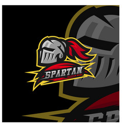 Spartan warrior logo design warriors sport team vector