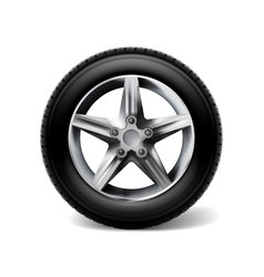 stock realistic car wheels set vector image