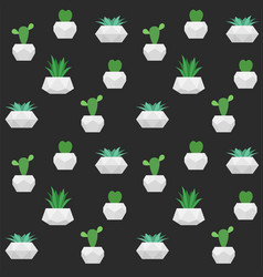 succulents seamless pattern background vector image